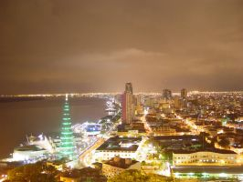 Guayaquil Ecuador Night Shot by djspark
