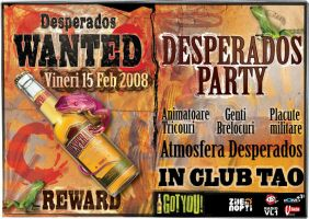 flyer Club TAO - Desperados by semaca2005