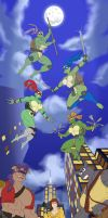 Chochi's TMNT Rule 63 - We Forget To Look Up. by Atariboy2600