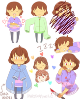 Frisk Doodles by Marstarpower