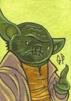 SketchCard: StarWars YODA by Axigan