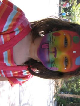 Facepaint - Rainbow Puppy by j-deo