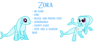Zora Pony Species Sheet by MidnaCookies1425