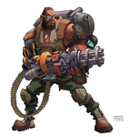 Barret Wallace - FF7 Brainstorm Challenge by freakyfir
