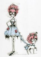 Sock Hop: Tim Burton style by dead-kittens3