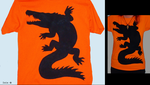 Orange Crocodile t-shirt by IsisMasshiro
