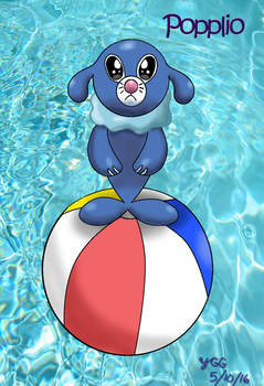Popplio wants you to love it by YoshiGamerGirl