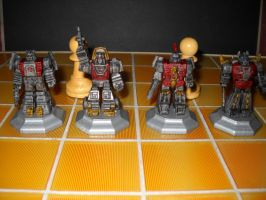 Transformers custom chess set pawns decoy by Prowlcop