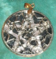 Night Sky Pentacle Pendant 1 by Windthin