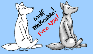 Free Wolf Makeables :Paint: by KenshiTora
