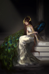 Peacock - rough piece for patreon by shilin