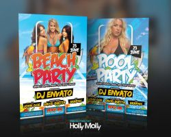 Beach / Pool Party Flyer by imagingdc