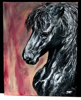 Friesian Horse by ThisArtToBeYours