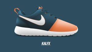 Nike Roshe Run 'Salmon Toe' by BBoyKai91