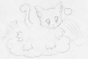 Kitty In The Clouds by Asuna---Chan