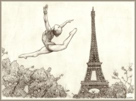 Over The Eiffel Tower by Velnna