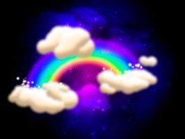 Clouds and Rainbow by Th3Zephyr