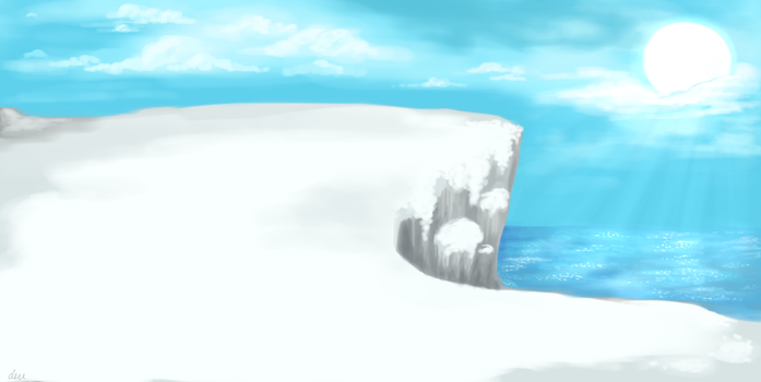 Snowy scenery by dereDFS