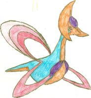 Cresselia Sketch by CoolMan666