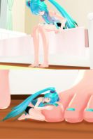 Mini Mikus: Off Miku by TheSWKing