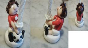 Birthday Candle Holder - Football Boy by tyney123