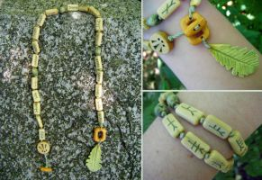Holly and Oak Ogham Chaplet by Lolair