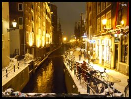 A winter night in Amsterdam 2 by KAKAO85