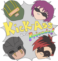 Kick-Ass and Friends by ratcabob