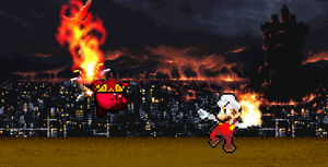 Birthday Pic - Fire Mario vs. Blitz by KingAsylus91