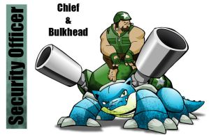 PSC Guard Chief and Bulkhead by chief-orc