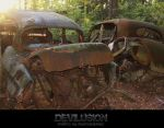 Car-Cemetery (in color) by D3vilusion