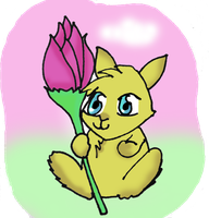 Flower bunny by MessiMutt