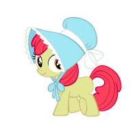 Apple Bloom wearing her Bonnet by star-burn