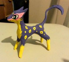 Sculpey Liepard by AnScathMarcach