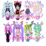 monster batch [4/8 OPEN] by hello-planet-chan