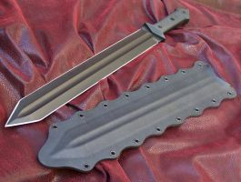 All black tactical Gladius by GageCustomKnives