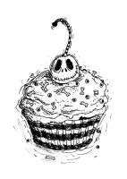 Jack skelling-cupcake design by Anarchpeace