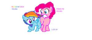 Pinkie Pie Meets Rainbow Dash!! by GalaxyGal-11