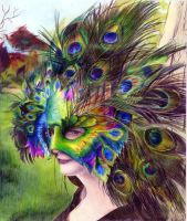Peacock Mask by aNa-FeR