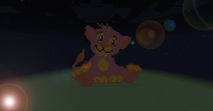 Pixel Art - Simba by MrWigleg