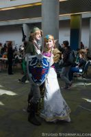 Link and Zelda in the Light by Stormfalcon