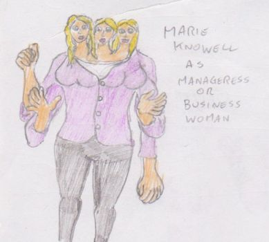 Marie Knowell in business suit by WhippetWild