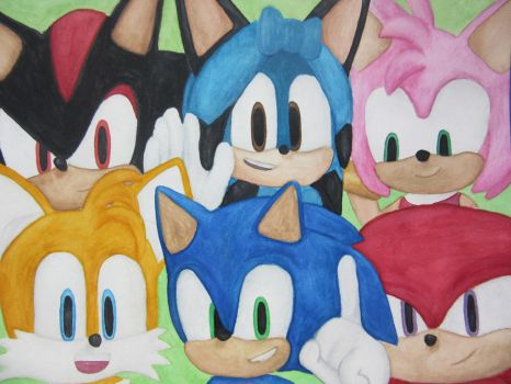 Sonic and co by Caro-Chipher