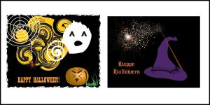Halloween Greeting Cards by DrinkTeaOrDie
