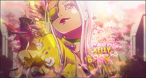 Pink/Yellow Girl (Gift for Kelly) by Wishlah