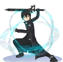 Kirito Sword Art Online by An-Orange-Dinosaur