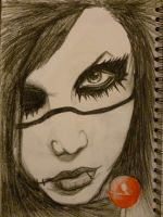 Andy Biersack (WITH A LOLLIPOP!) by EloiseNightsong
