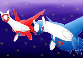 Latios and Latias by knilzy95