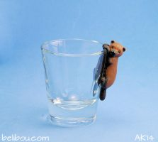 Bush Dog shot glass by painteddog