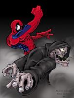Spidey vs. The Living Corpse by XNegativecreepX